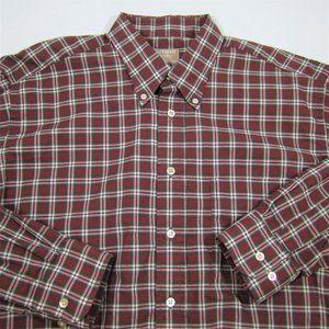 Gitman Brothers 90s Made USA Red Plaid Shirt LRG